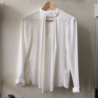 Sale! TOPSHOP Cutout White Blouse