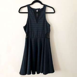 Navy Skater Dress - Urban Outfitters