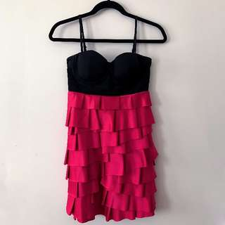 Lipsy Pink Bustier Dress