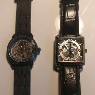 Two Stuhrling Original Skeleton Automatic Watches