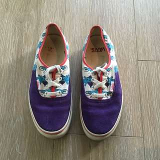 Vans Sneakers Elephant Print (Women US Size 6)