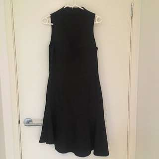 Black High Neck Dress