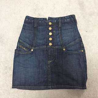 Marciano High Waisted Jean Skirt