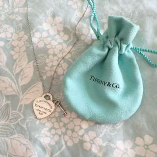 Tiffany And Co Heart Tag With Key Pendant