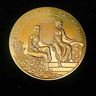 1932 Golden Gilt X.Olympic Games Held In USA Los Angeles California Medal
