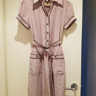 Goshow Silk Dusty Pink Size 2 Pockets Dress Fully Lined