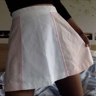 Vintage Pink And White Tennis Skirt