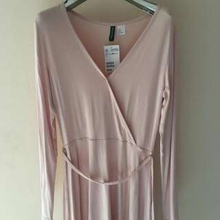 New H&M baby pink dress (blm lepas tag)