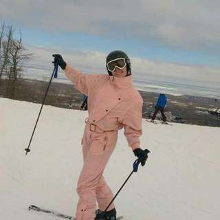 awesome vintage skiing costume
