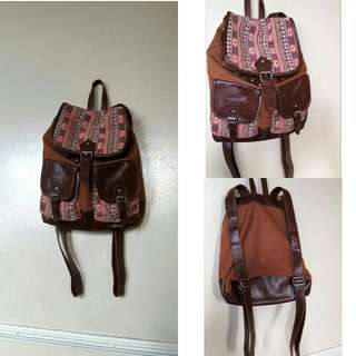 Aztec Brown Leather Bag