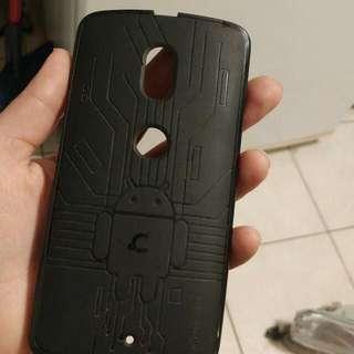 Flexible Moto X case and screen protection