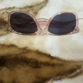 Pink Shiny Sunglasses