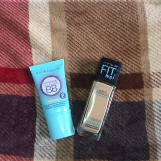Maybelline BB CREAM + FIT ME FOUNDATION