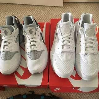 Nike Huaraches Grey And White
