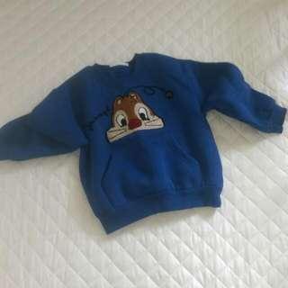 ✨現貨 韓國mom & bebe松鼠加絨加厚上衣 嬰幼兒服裝 男女童裝  加絨棉T 厚棉T