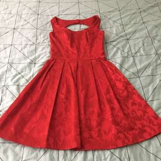 Review A-line Size 8 Red Dress