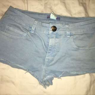 Suprè Blue Denim Shorts