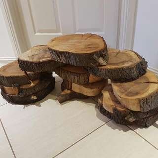X12 Wood Rounds Tree Slices Rustic Wedding Decor Centrepieces