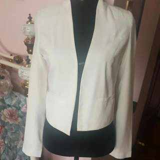Cotton On White Blazer