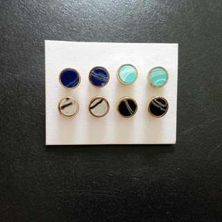 Round Matching Earrings