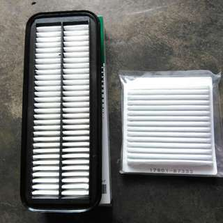 Myvi air filter with aircond filter set
