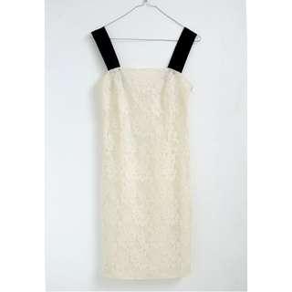 Broken white lace dress