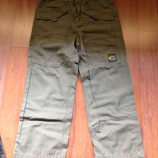 Bossini Olive Green Pants For Boys