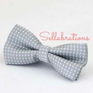 [Sellabrations] Baby Boy Kids Toddler Bow Tie and Suspenders Set in Grey