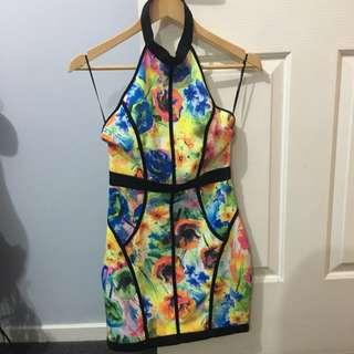 Backless Halter Dress Size 8