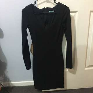 Long Sleeve Black Kookai Dress Size 36