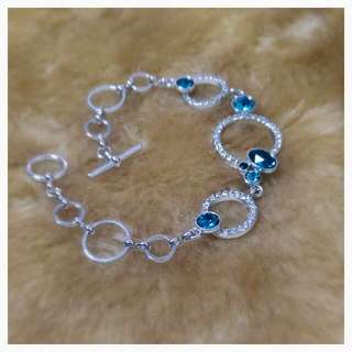SWAROVSKI Elements Blue Gem Bracelet 《Korean Fashion》