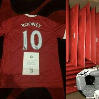 Original Jersey Signed By Wayne Rooney