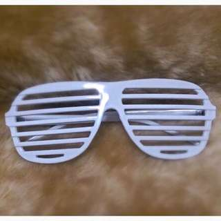 White Party Striped Glasses