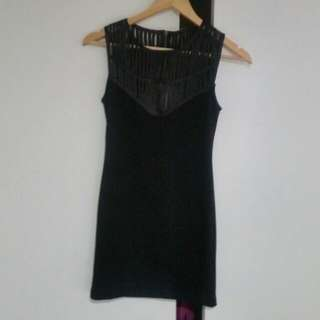 Black Fitted Jorge Dress. Size 8