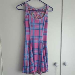 Black Milk Clothing IOD Inside Out Dress Barbie Tartan Vs Candy Hearts Size XS