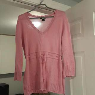 Pink 1940-50's Inspired  Sweater (L)