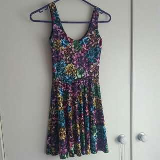 Black Milk Clothing Wrapped Up Scoop Skater Dress Size XS Extra Small
