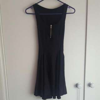 Black Milk Clothing Zip Evil Dress Size XS Extra Small Black