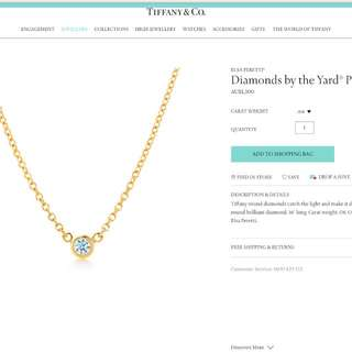 Authentic - Tiffany & co Elsa Peretti - Diamonds by the Yard Pendant