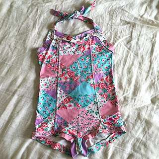 50's Style Girls Swimsuit Seafolly
