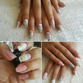 Full Set SNS nails. Latest Trend Is Marble Nails. By Appointment Only.