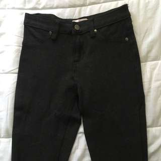 Dark Grey Fitted Pants 6
