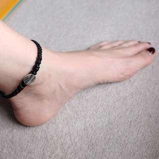 [NEW] Black Braided Anklet / Bracelet