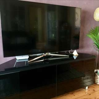 Black Tempered Glass TV Unit