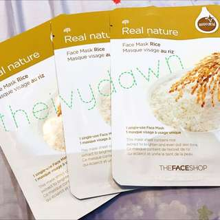 The Face Shop Real Nature Face Mask Rice