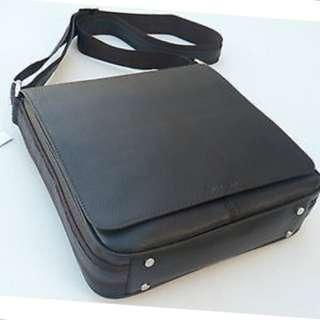 Oroton Men Handbag Bag Satchel Messenger Chrysler Companion Leather Brown NEW