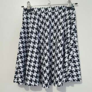 Black Milk Clothing Hounds tooth Skater Skirt Size XS