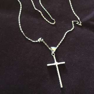 Crucifix Necklace Silver 925