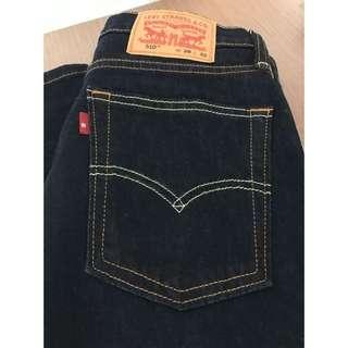Levis CLASSIC 510 緊身窄管丹寧牛仔褲  經典原色款W28L32