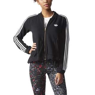 Adidas Originals Moscow Mix Logo Track Jacket Trefoil Women Black